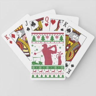 Golf-Weihnachten Spielkarten