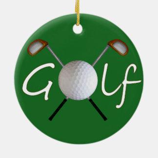 Golf-Weihnachtsbaum-Verzierung Keramik Ornament