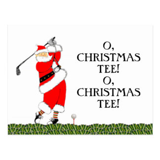 Golf Weihnachtskarte Postkarte