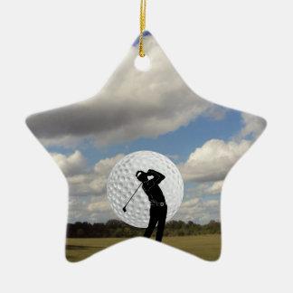 Golf-Welt Keramik Ornament