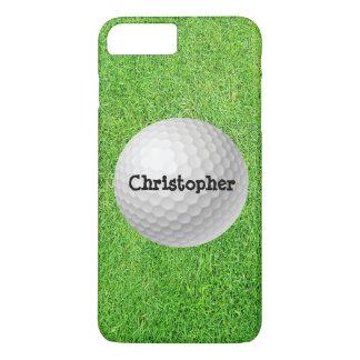 Golfball auf grünem Telefon-Kasten iPhone 8 Plus/7 Plus Hülle