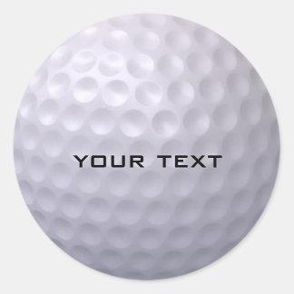 Golfball-Aufkleber Runder Aufkleber