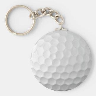Golfball bildet Beschaffenheits-Muster 2 Grübchen Standard Runder Schlüsselanhänger