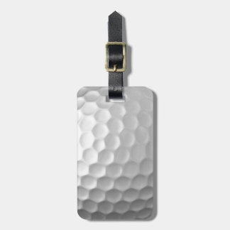 Golfball bildet Beschaffenheits-Muster mit Namen Kofferanhänger