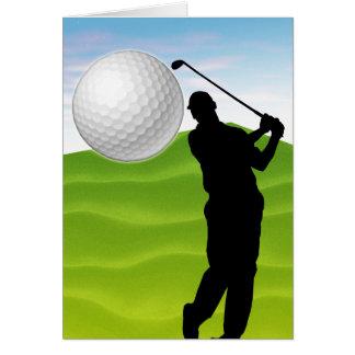 Golfball, der an Ihnen kommt Grußkarten