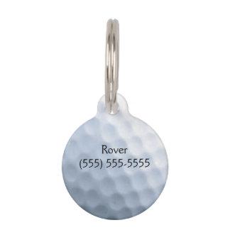 Golfball-Druck-Muster-Hintergrund Tiernamensmarke