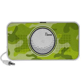Golfball hellgrüne Camouflage Tarnung Laptop Lautsprecher