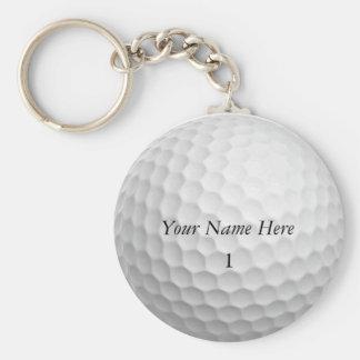 Golfball Keychain fertigen es mit IHREM NAMEN Schlüsselanhänger