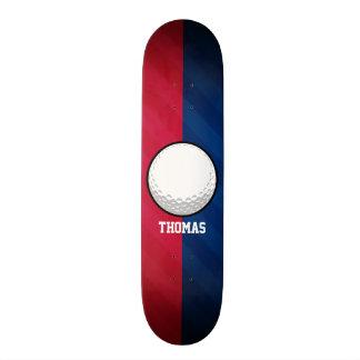 Golfball; Rot, weiß und Blau Personalisierte Skateboarddecks