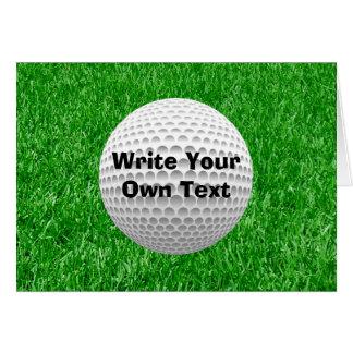 Golfball u. Rasen Karte