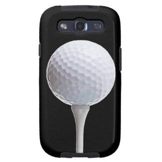 Golfball u T-Stück auf Schwarzem - kundengebunden Galaxy SIII Etui