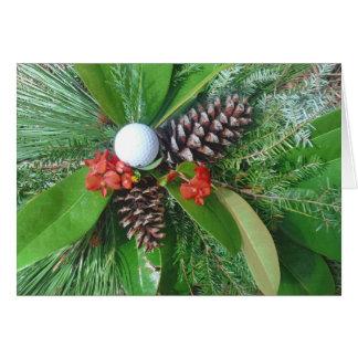 Golfballkiefer Kegel und Evergreens Weihnachten Karten