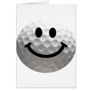 Golfballsmiley Karte