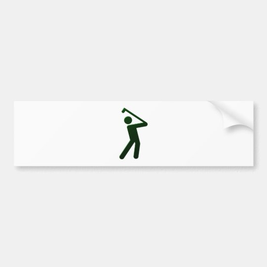Golfer golf player autoaufkleber