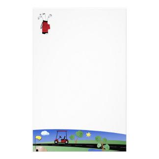 Golfmobil und Vereine Briefpapier