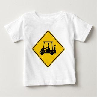 Golfmobil-Verkehrs-Landstraßen-Zeichen Baby T-shirt