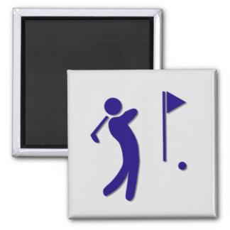 Golfplatz-Hotel-Ikone Kühlschrankmagnete
