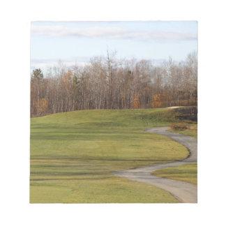 Golfplatz Notizblock