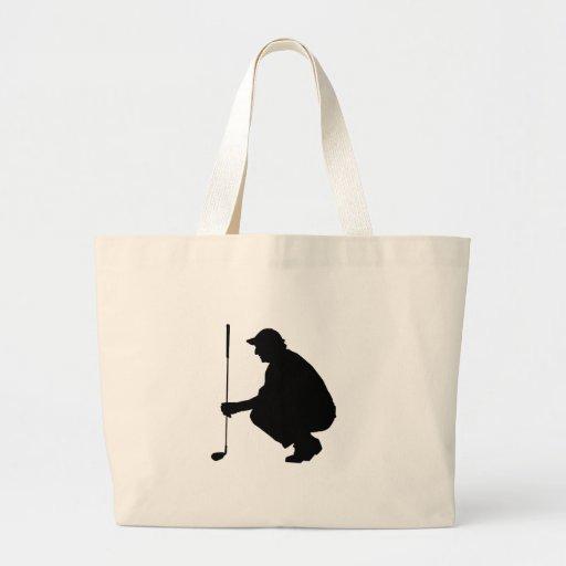 Golfspieler 01 leinentaschen