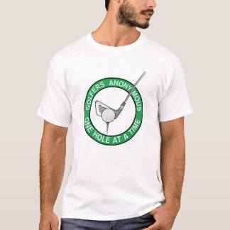 Golfspieler-anonymes Loch T-Shirt
