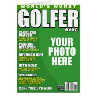 Golfspieler-Fake-Titelseite Karte