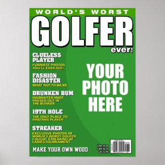 Golfspieler-Fake-Titelseite Poster