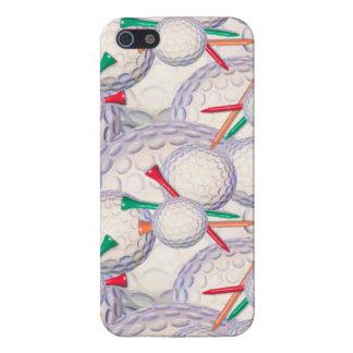 Golfspieler; Golf-Ball-u. T-Shirts-Muster iPhone 5 Etui