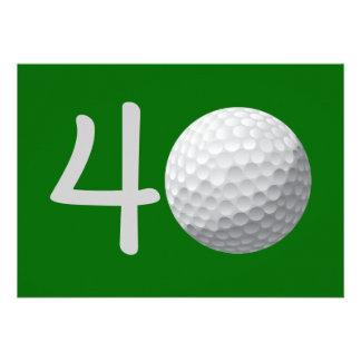 Golfspieler-Golf-Golf spielende 40