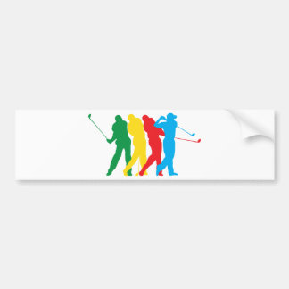 Golfspieler in der Bewegung Autoaufkleber