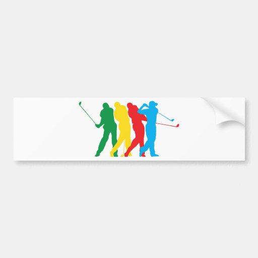 Golfspieler in der Bewegung Auto Sticker