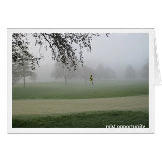 Golfspieler-Nebel-Gelegenheit Notecard Karte