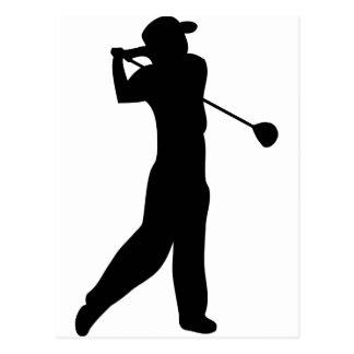 Golfspieler Postkarten