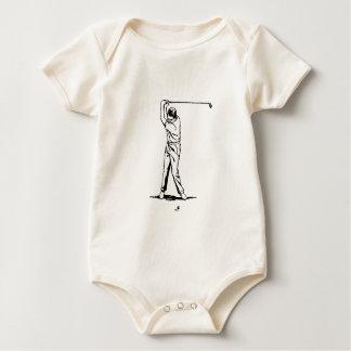 Golfspieler - Retro Zeichnen Baby Strampler