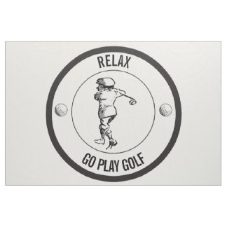 Golfspieler Stoff