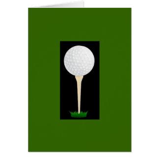Golfspieler-T-Stück Geburtstags-Karte Karte