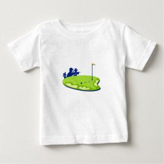 Golfspielercaddie-Golfplatz Retro Baby T-shirt