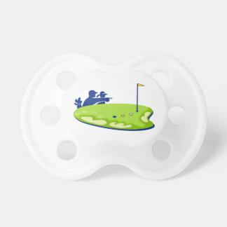 Golfspielercaddie-Golfplatz Retro Schnuller