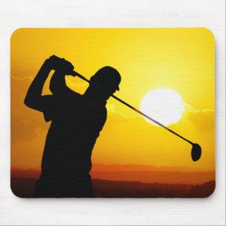 Golfspielersonnenuntergang Mauspads