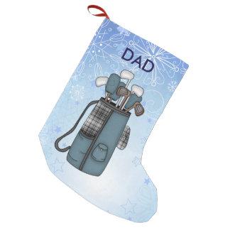 Golftasche und Schnee Kleiner Weihnachtsstrumpf