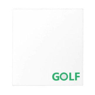 Golfzeichen Notizblock