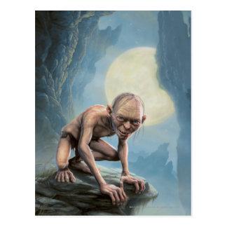 Gollum mit Mond Postkarten