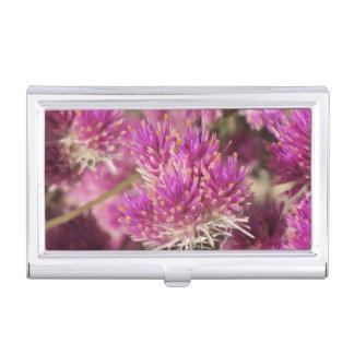 Gomphrena-Feuerwerks-Blüte Visitenkarten Dose