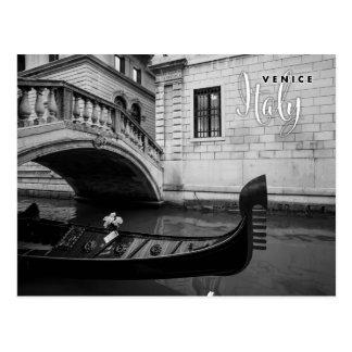 Gondel in Venedig Italien Postkarte