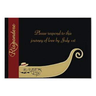 Gondel - Liebe ist im Luft UAWG 8,9 X 12,7 Cm Einladungskarte