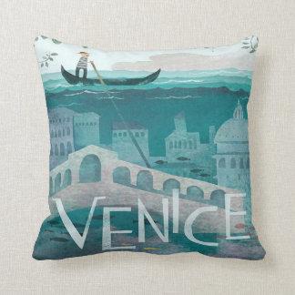 Gondel-Reiseferien Venedigs Italien Retro Kissen