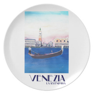 Gondel Venedigs Italien auf Canal Grande mit San Teller