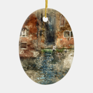 Gondel Venedigs Italien in den Kanälen Keramik Ornament