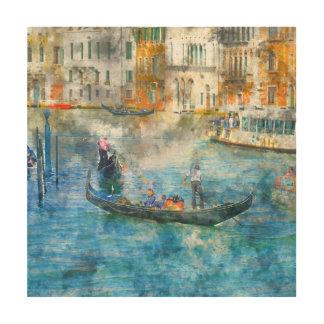 Gondeln auf dem Canal Grande in Venedig Italien Holzleinwand