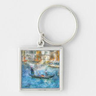 Gondeln im Canal Grande von Venedig Italien Schlüsselanhänger