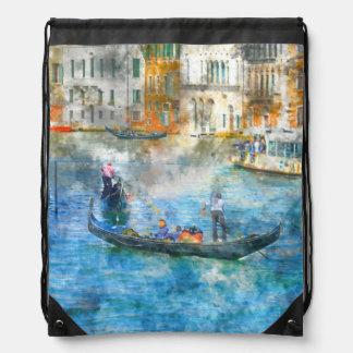 Gondeln im Canal Grande von Venedig Italien Turnbeutel
